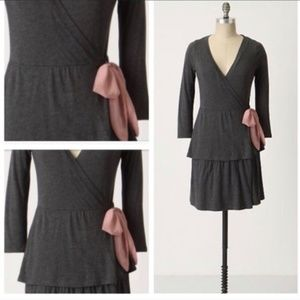 Eloise Gray Wrap Dress Robe